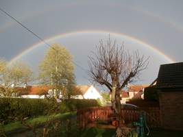 rainbow over wansford